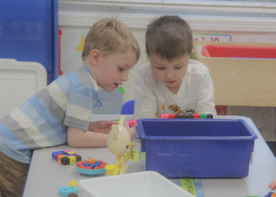 two kids educational play