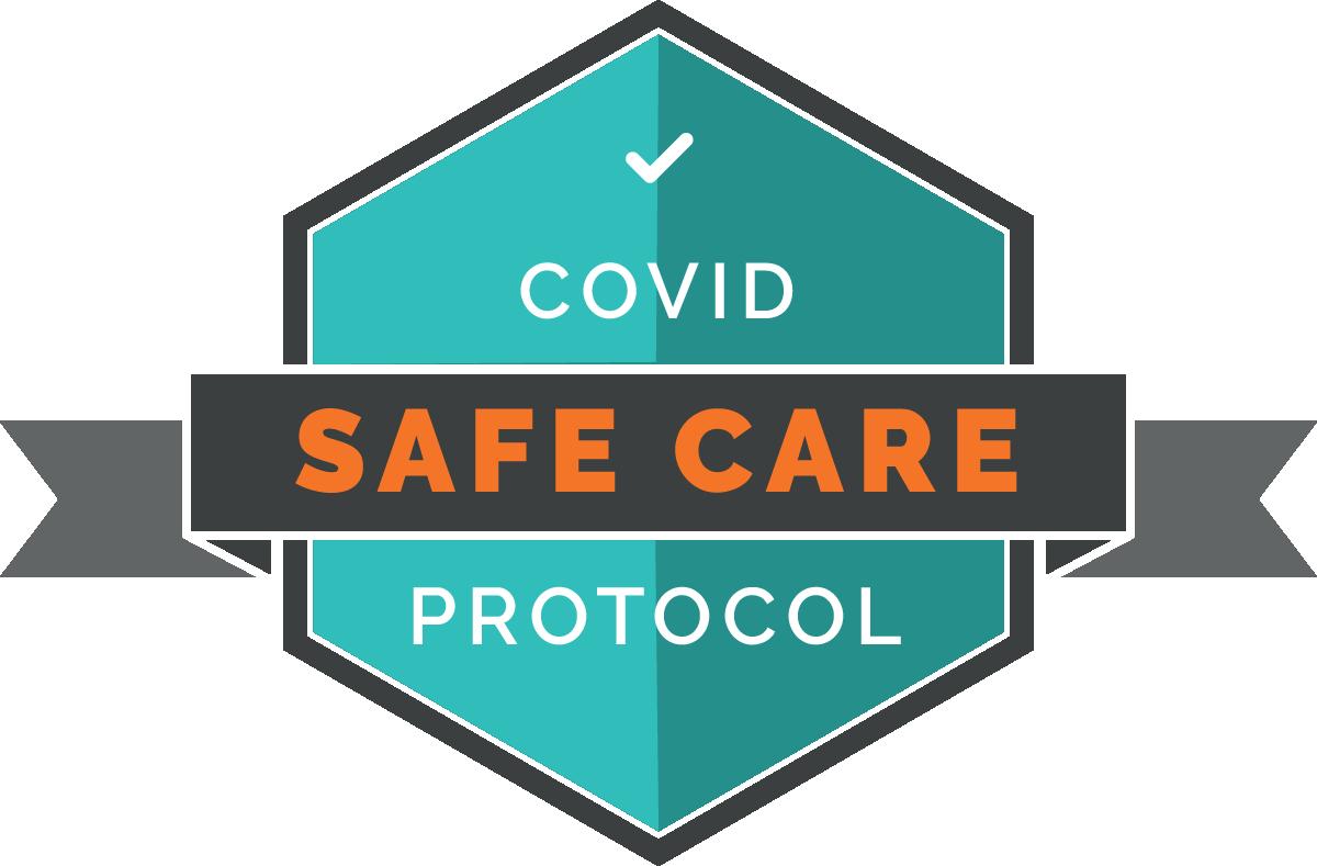 covid safe care badge